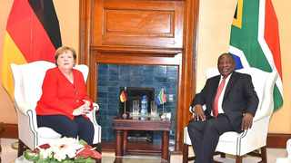 President Cyril Ramaphosa met with German Chancellor Angela Merkel at the Union Buildings on Thursday. Picture: GCIS
