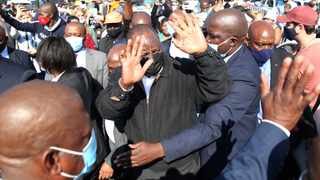 President Cyril Ramaphosa visited KwaZulu-Natal to assess the situation after a string of violence consisting of looting and torching of buildings that has affected the province negatively. Picture: Doctor Ngcobo/African News Agency(ANA)