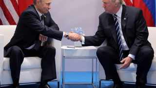 President Donald Trump shakes hands with Russia's President Vladimir Putin during their bilateral meeting at the G20 summit in Hamburg, Germany July 7, 2017. File picture: Carlos Barria/Reuters