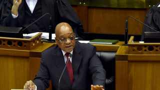 President Jacob Zuma answers questions in the National Assembly, Parliament, Cape Town, 19 November 2015. Elmond Jiyane, GCIS