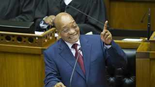 President Jacob Zuma delivers his State of the Nation Address. Photo: Rodger Bosch