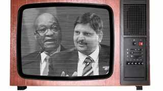 President Jacob Zuma has secretly toured the studios of the new Gupta-owned 24-hour news channel, 48 hours before it hits the airwaves.
