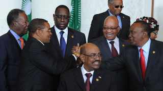 President Jacob Zuma join other heads of States during a family photo at the African Union in Addis Ababa, Ethiopia. 25/05/2013