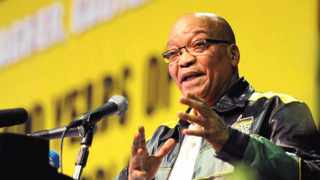 President Zuma delivering his closing remarks at the ANC National Policy Conference held in Midrand last month.