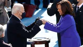 President-elect Joe Biden and Vice President Kamala Harris during the inauguration of Joe Biden as the 46th President of the United States. Picture: Brendan McDermid/Reuters