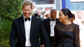 """Prince Harry and Duchess Meghan at the European premiere of """"The Lion King"""" in London. Picture: Reuters"""