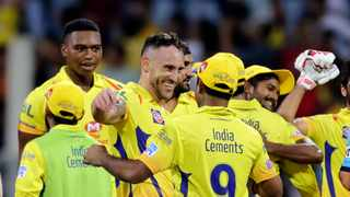 Proteas Faf du Plessis and paceman Lungi Ngidi were part of the triumphant Chennai Super Kings squad in the 2018 IPL. Photo: AP