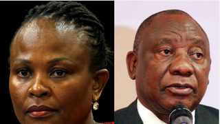 Public Protector Busiswe Mkhwebane and President Cyril Ramaphosa. Picture: Mike Hutchings/Reuters and Jacques Naude/African News Agency (ANA)