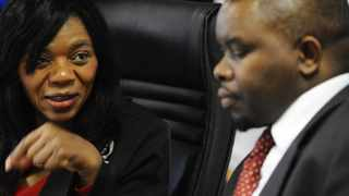 Public Protector Thuli Madonsela and her deputy Kevin Malunga File picture: Phill Magakoe
