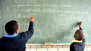 Pupils during the maths exercise at Nkazimlo Primary School in Khayelitsha. The writer says that pupils need to feel the excitement and fun of mathematics and how it informs almost every aspect of our modern life. PIcture Cindy Waxa