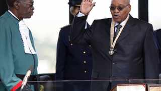 QUESTIONING CONSTITUTION: Jacob Zuma is sworn in as president of South Africa in Pretoria May 9, 2009. Zuma and some of his ANC officials have been accused of making statements that appear to be questioning the constitution and attacking the judiciary. Picture: Reuters