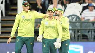 Quinton de Kock, Tabraiz Shamsi and Rassie van der Dussen could be in action for the Proteas against India in August. Picture: BackpagePix