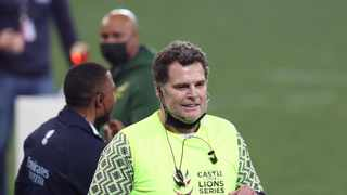 Rassie Erasmus, Springbok director of Rugby during the Second Test againt the British and Irish Lions. Photo: BackpagePix