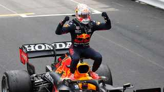 Red Bull's Max Verstappen celebrates after winning the Monaco Grand Prix. Photo: Gonzalo Fuentes/Reuters