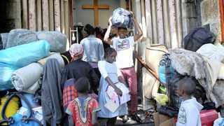 Refugees at the Central Methodist Church, where violence broke out. Picture: Brendan Magaar/African News Agency (ANA)