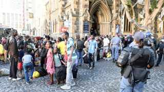 Refugees who were sheltered in the Central Methodist Church in the CBD reportedly caused R600 000 in damage. Picture: Phando Jikelo / African News Agency (ANA)