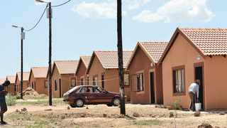 Residents allegedly illegally occupied these RDP homes in Olievenhoutbosch extension 27. File picture: Bongani Shilubane/ANA