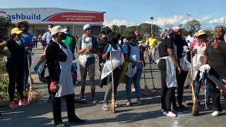 Residents of KwaMashu teamed up yesterday and embarked on a clean-up campaign. Picture: Social media