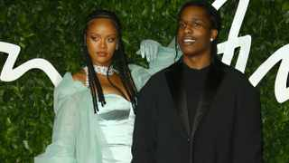 Rihanna, left, and A$AP Rocky pose for photographers upon arrival at the British Fashion Awards in central London, Monday, Dec. 2, 2019. Picture: AP