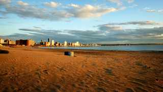 Rising seas could see Durban pumping ever-increasing volumes of sand onto its beachfront to keep its beaches, says Andy Green of the UKZN Department of Geological Sciences in research on local coastlines. Our photographer Shelley Kjonstad took this beachfront picture at sunrise during the lockdown.
