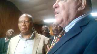 Ronnie Kasrils and Kebby Maphatsoe have buried the hatchet and settled the R1-million defamation claim instituted by Kasrils against Maphatsoe and the MK Veterans Association (MKMVA). Picture: Zelda Venter