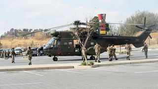 SANDF helicopter is seen at the Alex Mall in Alexandra township, members of SANDF are on patrol in Alexandra, Johannesburg. Picture Itumeleng English/ African News Agency(ANA)