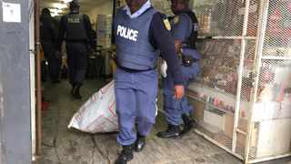 SAPS and JMPD returned to the Johannesburg CBD raiding shops at Bree, Jeppe and Small Street for counterfeit and illegal goods. Picture: Bhekikhaya Mabaso/African News Agency(ANA)