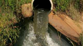 ST300107(06) A pipe channelling extremely poisonous water that flows towards Rosahof near Vanderbijil Park.The residents within the area complain about stinky water coming from Vaal River.Picture: Bonile Bonile Bam