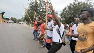 STUDENTS at Tshwane University of Technology protest at the main campus in Pretoria West. Picture: Bongani Shilubane/African News Agency (ANA)
