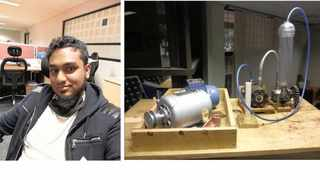 Sameer Khan and his invention the Hydra Gen. PICTURE DUT