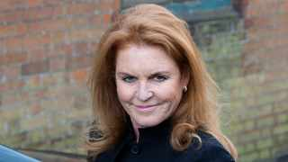 Sarah Ferguson, Britain's Duchess of York, arrives at the funeral service for Peaches Geldof at the St Mary Magdalene and St Lawrence church in Davington, southeast England April 21, 2014. Picture: Reuters/Neil Hall