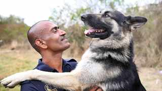 """Sergeant Devendran (Collin) Chetty and """"Ghost"""" have completed many daring search and rescue missions over the years, it helps that they have a good understanding."""