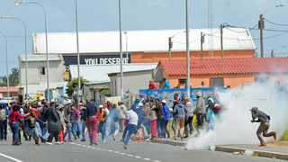 Several people were arrested after a protest caused the N2 to be closed near Strand and Somerset West. Picture: David Ritchie/ ANA