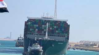 Ship Ever Given, one of the world's largest container ships, is seen after it was fully floated in Suez Canal, Egypt March 29, 2021. Suez Canal Authority/Handout via Reuters