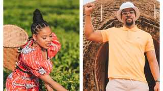 Sho Madjozi and Maps Maponyane are in Rwanda. Pictures: Instagram