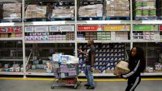 Shoppers stock up on groceries at a Makro store in Johannesburg. Picture: Reuters/Siphiwe Sibeko