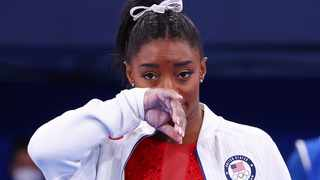 Simone Biles of the United States during the Women's Team Final. Picture: Mike Blake/Reuters