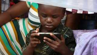 Some children have been found to be using mobile phones for more than 12 hours in a day or more due to absence of interaction among family members. Picture: Brendan Magaar/African News Agency(ANA)
