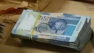 Some of just 11 bags seized by SARS customs officials containing an estimated R78 million of undeclared currency. Picture: Supplied