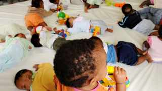 Some of the children awaiting to be adopted play with toys at Alice Adoption Home in Westcliff.  File Picture: Bonile Bam.