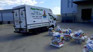 Some of the food packs donated to KZN victims of the riots by the non-profit organisation Food For Life.