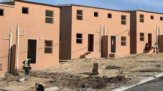 Some of the units at the Rooidakke Housing Development in Grabouw. Picture supplied