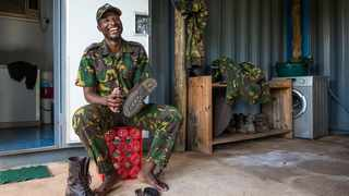 Somkhanda Community Game Reserve ranger Sibusiso Mathe is preparing for The Wildlife Ranger Challenge, which will see him complete a series of events, including a 21km run across tough terrain in Zululand Picture: Peter Chadwick