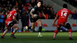 Sonny Bill Williams goes on the run for the Toronto Wolfpack. Picture: Ed Sykes/Action Images via Reuters