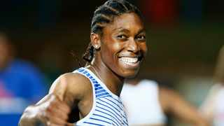 South Africa 800m Olympic champion Caster Semenya is fighting her battles with a smile. Picture Phill Magakoe/AFP