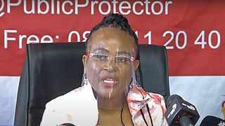 South Africa - Cape Town - December 21, 2020 - Public Protector Busisiwe Mkhwebane releases the report on investigations into financial corruption and planning for Nelson Mandela's funeral. Photo: Screengrab/African News Agency(ANA)
