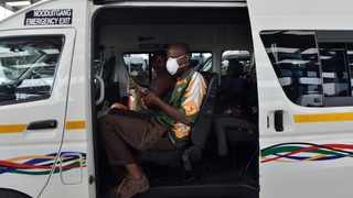 South Africa - Coronavirus - Pretoria - 31 March 2020 - Kopanong Taxi Rank in Hammanskraal comply with the government's regulation to carry a certain number of passengers in their taxis. Picture: Oupa Mokoena/African News Agency (ANA)