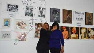 """South Africa - Durban - 25 August 2021- Artists Devika Pillay and Magrain Moodley have broken the silence on issues affecting women through their creative ability. Their artworks are presently on display at Define Art Gallery at Pearls Mall in Umhlanga, in an exhibition titled """"Breaking the Silence"""" Picture: Tumi Pakkies/African News Agency(ANA)"""