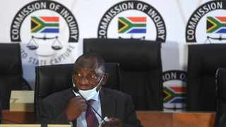South Africa - Johannesburg - 28 April 2021 - President Cyril Ramaphosa appears before the Commission of Inquiry into Allegations of State Capture led by Deputy Chief Justice Raymond Zondo. Picture: Itumeleng English/African News Agency(ANA)
