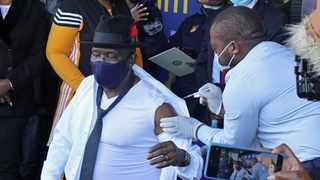 South Africa - Johannesburg - SAPS jabs - 05 July 2021. Hundreds of police officers join the Saps top brass including Police Minister Bheki Cele as they launch the police vaccine at Orlando stadium in Soweto. Picture: Timothy Bernard/ African News Agency